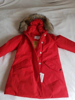 Woolrich Down Coat red-dark red