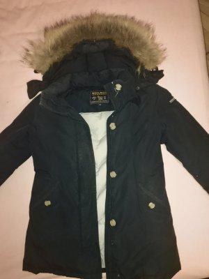 Woolrich Winterjack zwart-blauw