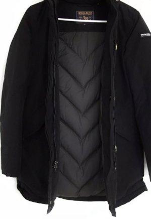 Woolrich Parka negro tejido mezclado