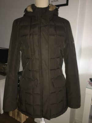 Woolrich Quilted Coat dark brown