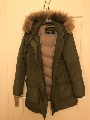 Woolrich Down Coat green grey-forest green