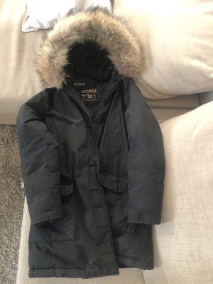 Woolrich Manteau de fourrure noir