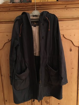 Woolrich Lang jack donkerblauw