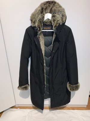 Woolrich Down Coat black fur