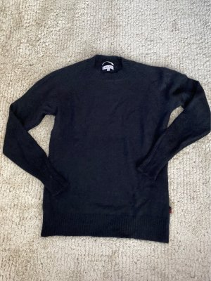Woolrich Crewneck Sweater black alpaca wool