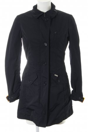 Woolrich Heavy Raincoat black casual look