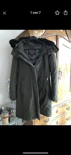 Woolrich Winterjack donkerbruin-khaki