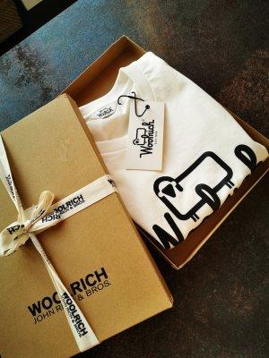 Woolrich Shirt met print wit-zwart