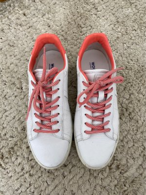 Woolrich Lace-Up Sneaker white-bright red leather