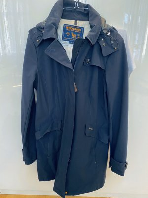Woolrich Trench Coat dark blue