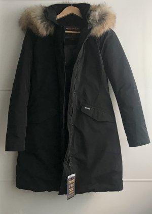 Woolrich Vail Coat Parka Daunen Mantel schwarz S Neu mit Etikett
