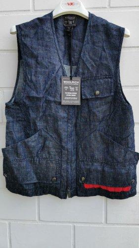 Woolrich Denim Vest dark blue