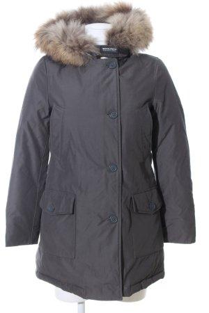 Woolrich Veste d'hiver gris clair Motif de tissage style décontracté