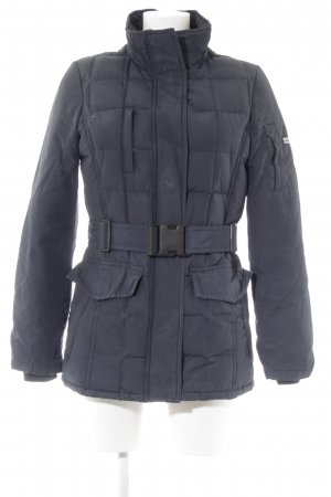 Woolrich Winter Jacket dark blue Logo application