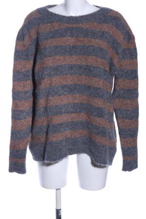 Woolrich Jersey de lana gris claro-marrón look casual