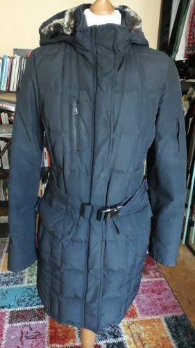 Woolrich Manteau matelassé bleu-bleu foncé pelage