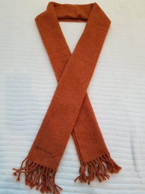 Burlington Sciarpa di lana cognac-arancione scuro
