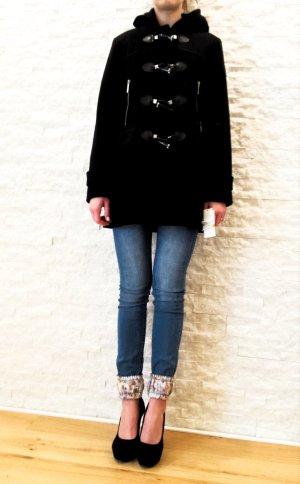 WOOOHOOO!!! NEU mit Etikett, Wunderschöner Wollmantel mit Kaputze von MICHAEL KORS, schwarz, Gr. S