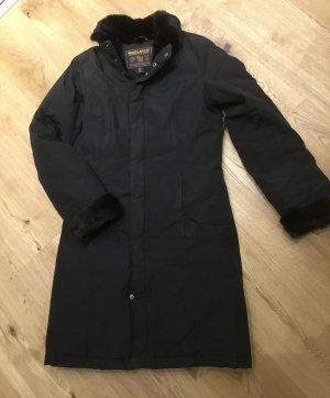 Woolrich Piumino lungo nero Tessuto misto