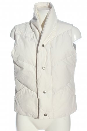 woorlich Down Vest white embroidered lettering casual look