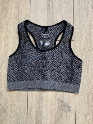 Workout Soutien-gorge gris foncé-noir polyamide