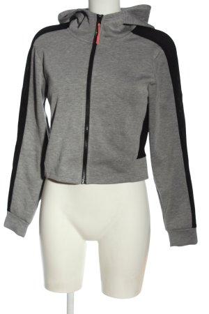 Workout Sweat à capuche gris clair-noir moucheté élégant