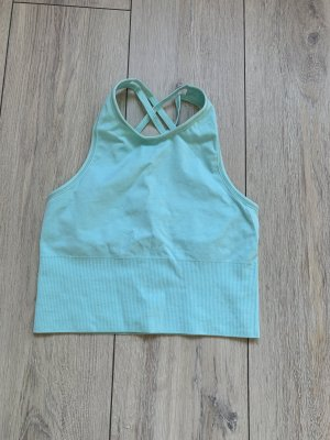 Workout Hauts épaule nues turquoise polyamide