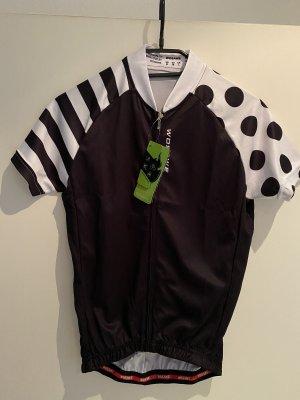 Wosawe Maglietta sport bianco-nero