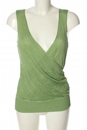 WOW Couture Top collo ad anello verde stile casual