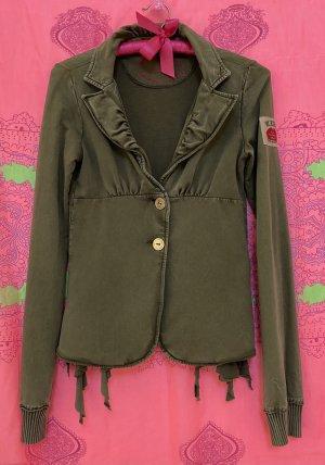 Fornarina Sweat Blazer green grey cotton