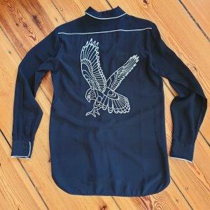 WoW Style - aufwändig bestickte Hemdbluse aus Seide by Stella Mc Cartney
