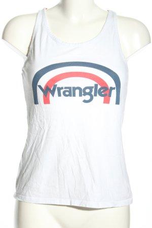 Wrangler A-Linien Top Motivdruck Casual-Look