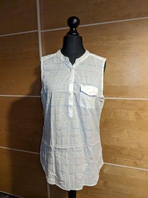 Wrangler Bluse ärmellos weiß Stehkragen Baumwolle Größe XL