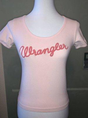 Wrangler Bluse in gr S Farbe Rosa Logo Baumwolle