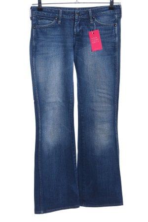 Wrangler Boot Cut Jeans blau Casual-Look