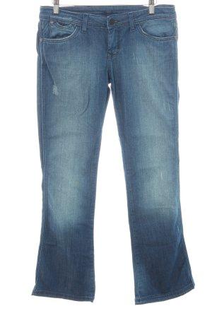Wrangler Boot Cut Jeans blau Used-Optik