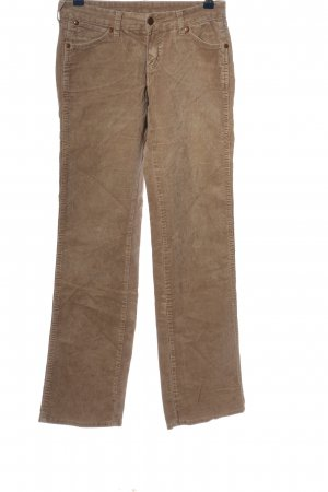 Wrangler Pantalone di velluto a coste marrone stile casual