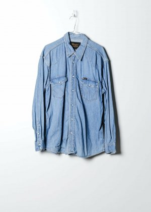 Wrangler Camicia a maniche lunghe blu Denim