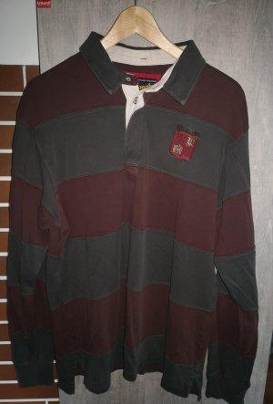 Wrangler Jersey de cuello redondo burdeos-caqui