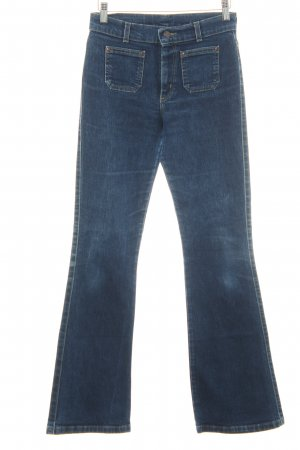 Wrangler Hoge taille jeans donkerblauw casual uitstraling