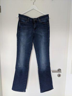 Wrangler Jeansy z prostymi nogawkami niebieski