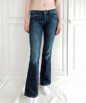 Wrangler Jeans W29 L34 38 S M Dunkelblau Blau Hose Jeggins schlaghose Breites Bein