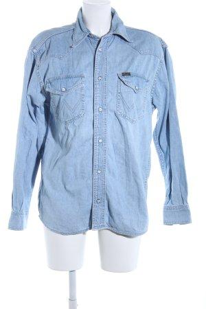 Wrangler Jeansbluse blau Casual-Look