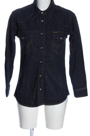 Wrangler Jeansowa koszula niebieski W stylu casual