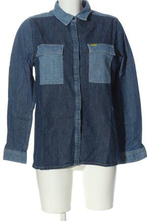 Wrangler Jeanshemd blau Casual-Look