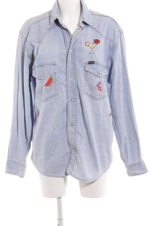 Wrangler Jeanshemd hellblau Jeans-Optik