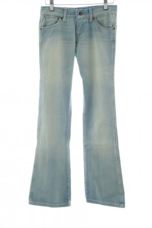 Wrangler Jeansschlaghose blau-creme Jeans-Optik