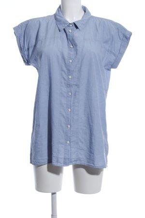 Wrangler Kurzarm-Bluse blau Business-Look