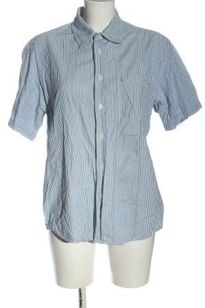 Wrangler Shirt met korte mouwen blauw-wit gestreept patroon casual uitstraling