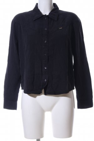 Wrangler Langarm-Bluse schwarz Casual-Look